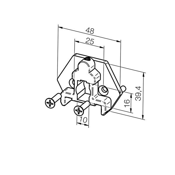 Adapterplatte 23 374.6801   Vorbauelement 10x16 mm