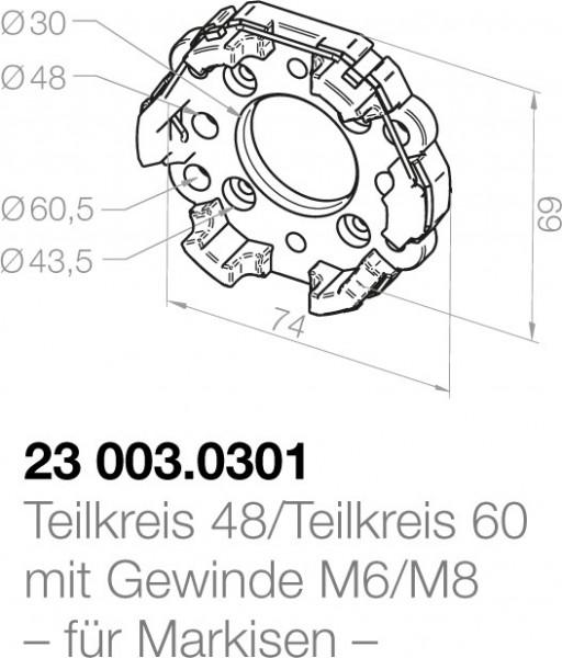 Elero Motorlager 23003.0301