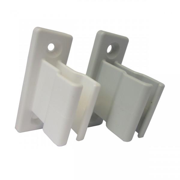 Kurbelhalter Markisenkurbelhalter   einteilig   Grau u. Weiß