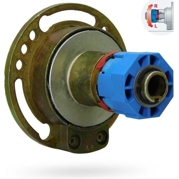 Kegelradgetriebe 4:1 | 6mm Innenvierkant | Freilauf Links/Rechts umschaltbar