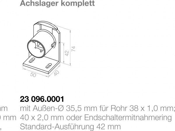 Elero Achslager 23096.0001