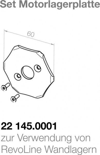 Elero  Motorlagerplatte 22145.0001