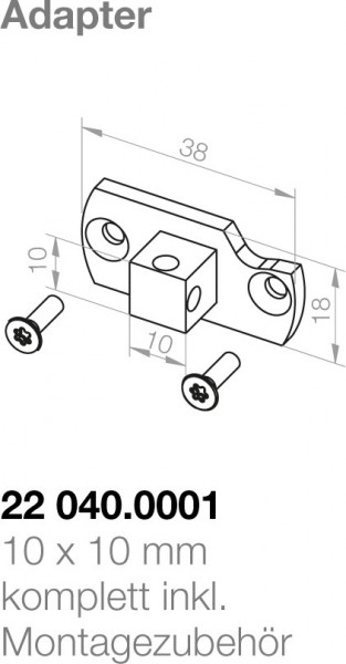 Elero Adapterplatte 22040.0001