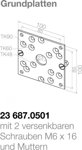 Elero Grundplatte 23687.0501