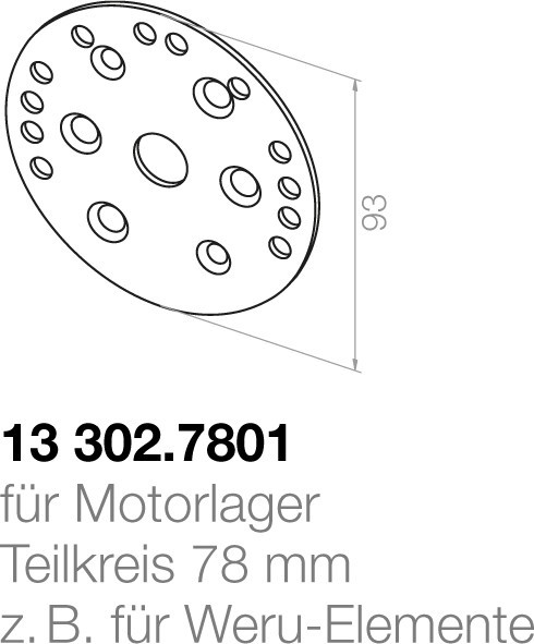 Elero Montageplatte 13302.7801