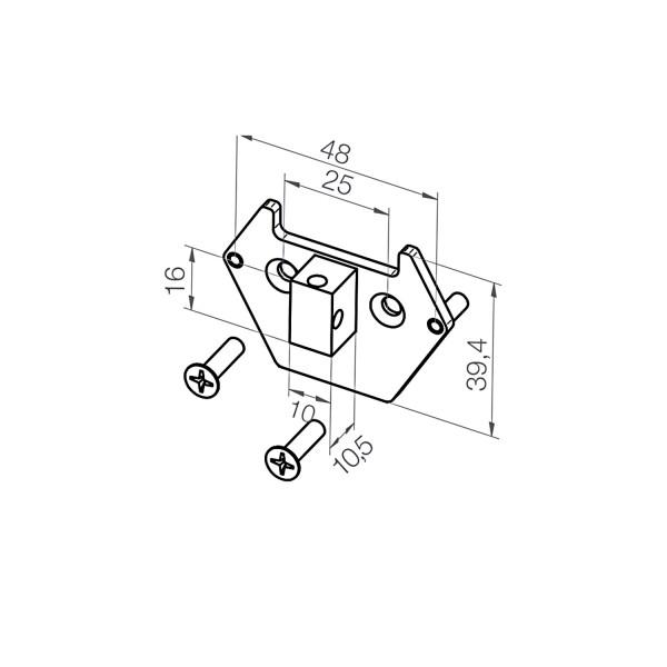 Adapterplatte 23 374.1401 | 10x16x10,5 mm