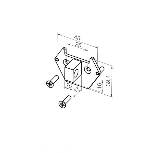 Adapterplatte 23 374.1501 | 10x16x17 mm