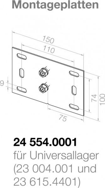 Elero Montageplatte 24554.0001