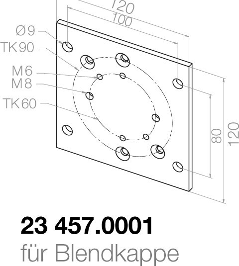 Elero Montageplatte 23457.0001