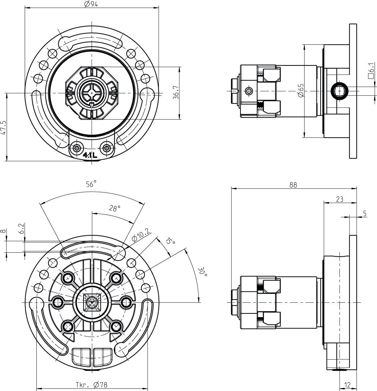 Kegelradgetriebe-Masse