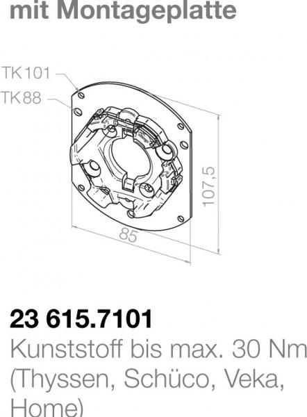 Elero Motorlager 23615.7101